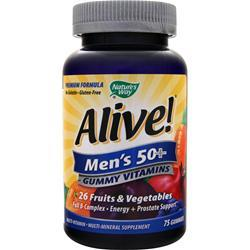 NATURE'S WAY Alive! Men's 50+ Gummy Vitamins 75 gummy