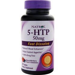 Natrol 5-HTP (50mg) - Fast Dissolve Wild Berry 30 tabs