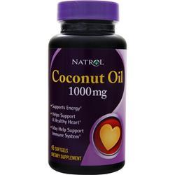 NATROL Coconut Oil (1,000mg) 45 sgels