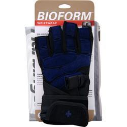 HARBINGER Bioform Wristwrap Glove Blue (Large) 2 glove