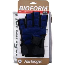 HARBINGER Bioform Real Leather Glove Blue (Medium) 2 glove