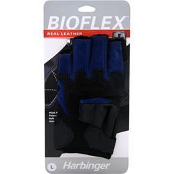 HARBINGER Bioflex Real Leather Glove Blue (Large) 2 glove
