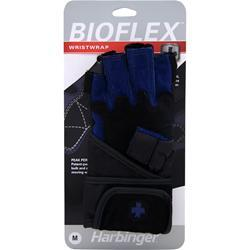 Harbinger Bioflex Wristwrap Glove Blue (Medium) 2 glove