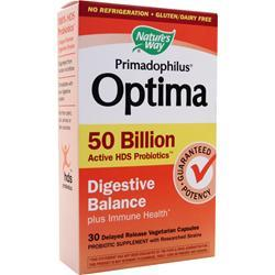Nature's Way Primadophilus Optima 50 Billion - Digestive Balance 30 vcaps
