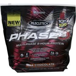 Muscletech Phase 8 - Multi Phase 8 Hour Protein Milk Chocolate 10 lbs