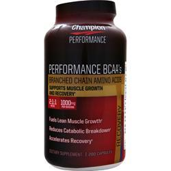 CHAMPION NUTRITION Performance BCAAs 200 caps