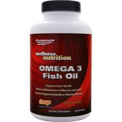 CHAMPION NUTRITION Omega 3 Fish Oil 120 sgels