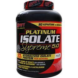 SAN Platinum Isolate Supreme Strawberry Yogurt 4.97 lbs