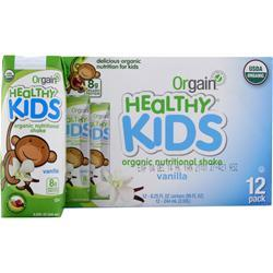 Orgain Healthy Kids RTD Vanilla 12 pck