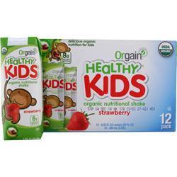 Orgain Healthy Kids RTD Strawberry 12 pck