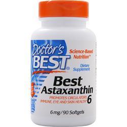 Doctor's Best Best Astaxanthin (6mg) 90 sgels