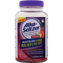 BAYER HEALTHCARE Alka-Seltzer Heartburn + Gas Relief Chews Tropical Punch 54 chews