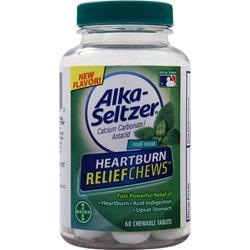 Bayer Healthcare Alka-Seltzer Heartburn Relief Chews Cool Mint 60 chews
