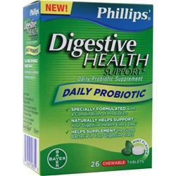 Bayer Healthcare Phillips' Digestive Health Support Mint EXPIRES 2/16 26 chews
