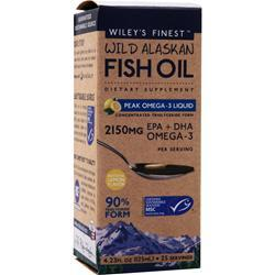 WILEY'S FINEST Wild Alaskan Fish Oil - Peak Omega-3 Liquid Lemon 125 mL