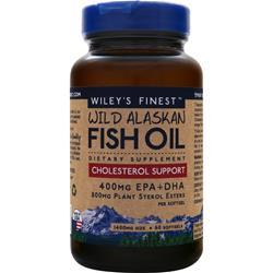 Wiley's Finest Wild Alaskan Fish Oil - Cholesterol Support 60 sgels