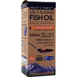 WILEY'S FINEST Wild Alaskan Fish Oil - Orange Burst 250 mL