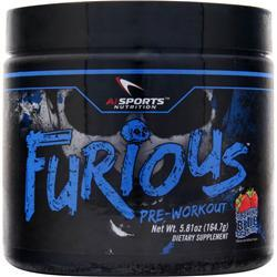 AI Sports Nutrition Furious Pre-Workout Booming Blue Raspberry 5.81 oz
