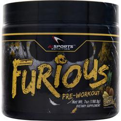 AI SPORTS NUTRITION Furious Pre-Workout Colada Chaos 7 oz