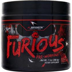 AI Sports Nutrition Furious Pre-Workout Cherry Bomb 7.1 oz