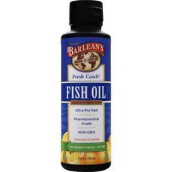 BARLEAN'S Fresh Catch Fish Oil Liquid Orange Best by 11/1/14 8 fl.oz