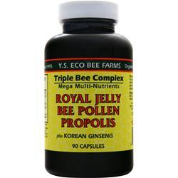 Y.S. ECO BEE FARMS Royal Jelly, Bee Pollen, Propolis plus Korean Ginseng 90 caps