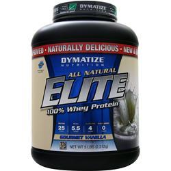 Dymatize Nutrition Elite 100% Whey Protein - All Natural Gourmet Vanilla 5 lbs