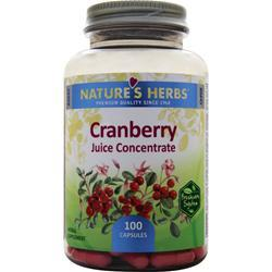 NATURE'S HERBS Cranberry Juice Concentrate 100 caps