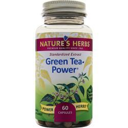 Nature's Herbs Green Tea - Power  BEST BY 3/17 60 caps