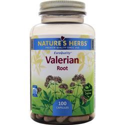 NATURE'S HERBS Valerian Root 100 caps