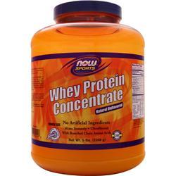 NOW Whey Protein Concentrate Unflavored 5 lbs
