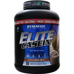 DYMATIZE NUTRITION Elite Casein Protein Cinnamon Bun 4 lbs