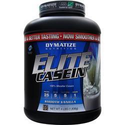 DYMATIZE NUTRITION Elite Casein Protein Smooth Vanilla 4 lbs