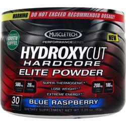 Muscletech Hydroxycut Hardcore Elite Powder Blue Raspberry 92 grams