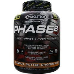 MUSCLETECH Phase 8 - Multi Phase 8 Hour Protein Peanut Butter Chocolate 4.63 lbs