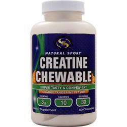 Natural Sport Creatine Chewable Orange Tangerine 60 chews