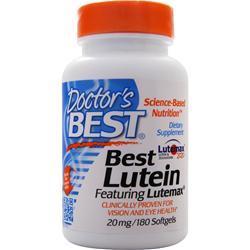 Doctor's Best Best Lutein Featuring Lutemax 180 sgels