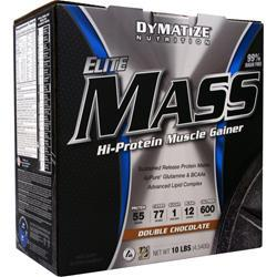 DYMATIZE NUTRITION Elite Mass Double Chocolate 10 lbs
