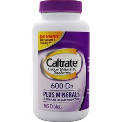 Caltrate 600 + D Plus Minerals 165 tabs