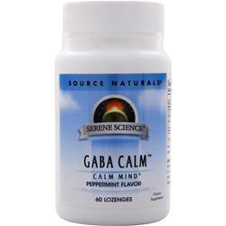 Source Naturals GABA Calm (sublingual) Peppermint 60 lzngs