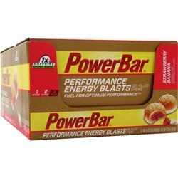 PowerBar Performance Energy Blasts Strawberry Banana 12 pckts