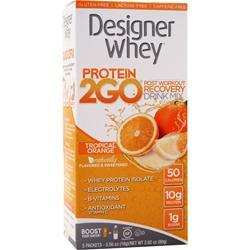 Designer Whey Protein 2GO Drink Mix Tropical Orange 5 pckts