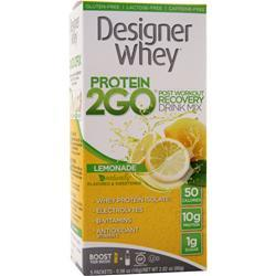 Designer Whey Protein 2GO Drink Mix Lemonade 5 pckts