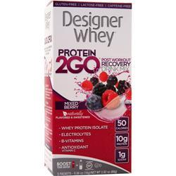 DESIGNER WHEY Protein 2GO Drink Mix Mixed Berry 5 pckts