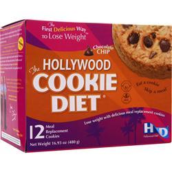 Hollywood Diet Hollywood Cookie Diet Chocolate Chip 12 count
