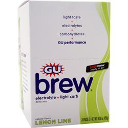 Gu Electrolyte Brew Lemon Lime 24 pckts