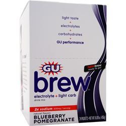 GU Electrolyte Brew Blueberry Pomegranate 24 pckts