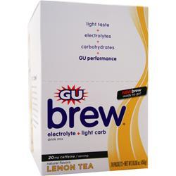 GU Electrolyte Brew Lemon Tea 24 pckts