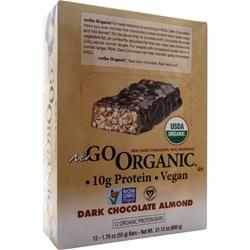 NUGO NUTRITION NuGo Organic Bar Dark Chocolate Almond 12 bars