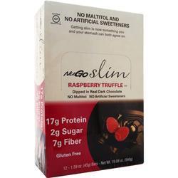 Nugo Nutrition Slim Bar Raspberry Truffle BEST BY 6/16/19 12 bars